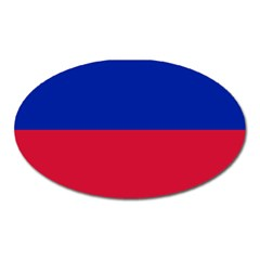 Civil Flag Of Haiti (without Coat Of Arms) Oval Magnet by abbeyz71