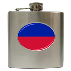 Civil Flag Of Haiti (without Coat Of Arms) Hip Flask (6 Oz) by abbeyz71