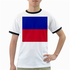 Civil Flag Of Haiti (without Coat Of Arms) Ringer T Shirts by abbeyz71