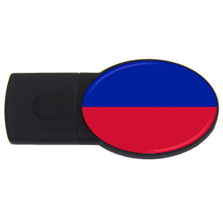 Civil Flag of Haiti (Without Coat of Arms) USB Flash Drive Oval (4 GB)