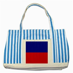 Civil Flag Of Haiti (without Coat Of Arms) Striped Blue Tote Bag by abbeyz71
