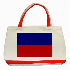 Civil Flag Of Haiti (without Coat Of Arms) Classic Tote Bag (red) by abbeyz71