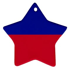 Civil Flag Of Haiti (without Coat Of Arms) Star Ornament (two Sides) by abbeyz71