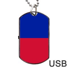 Civil Flag Of Haiti (without Coat Of Arms) Dog Tag Usb Flash (two Sides) by abbeyz71