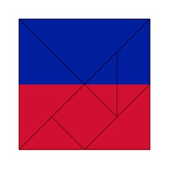 Civil Flag Of Haiti (without Coat Of Arms) Acrylic Tangram Puzzle (6  X 6 ) by abbeyz71
