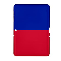 Civil Flag Of Haiti (without Coat Of Arms) Samsung Galaxy Tab 2 (10 1 ) P5100 Hardshell Case  by abbeyz71