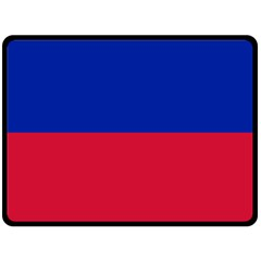 Civil Flag Of Haiti (without Coat Of Arms) Double Sided Fleece Blanket (large)  by abbeyz71