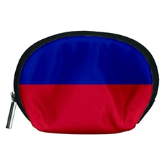 Civil Flag Of Haiti (without Coat Of Arms) Accessory Pouches (medium)  by abbeyz71