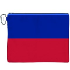 Civil Flag Of Haiti (without Coat Of Arms) Canvas Cosmetic Bag (xxxl) by abbeyz71
