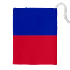 Civil Flag Of Haiti (without Coat Of Arms) Drawstring Pouches (xxl) by abbeyz71