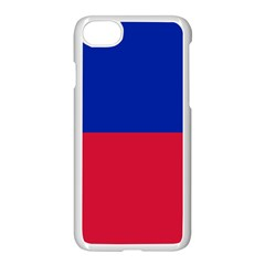 Civil Flag Of Haiti (without Coat Of Arms) Apple Iphone 7 Seamless Case (white) by abbeyz71