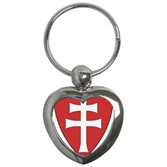 Coat Of Arms Of Apostolic Kingdom Of Hungary, 1172 1196 Key Chains (heart)  by abbeyz71