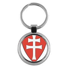 Coat Of Arms Of Apostolic Kingdom Of Hungary, 1172 1196 Key Chains (round)  by abbeyz71