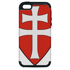 Coat Of Arms Of Apostolic Kingdom Of Hungary, 1172 1196 Apple Iphone 5 Hardshell Case (pc+silicone) by abbeyz71