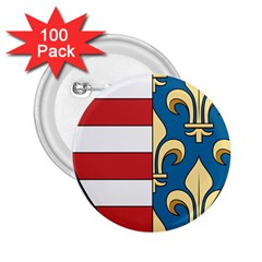 Angevins Dynasty Of Hungary Coat Of Arms 2 25  Buttons (100 Pack)  by abbeyz71