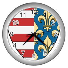 Angevins Dynasty Of Hungary Coat Of Arms Wall Clocks (silver)  by abbeyz71