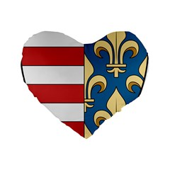 Angevins Dynasty Of Hungary Coat Of Arms Standard 16  Premium Heart Shape Cushions by abbeyz71