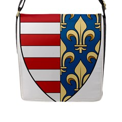 Angevins Dynasty Of Hungary Coat Of Arms Flap Messenger Bag (l)  by abbeyz71