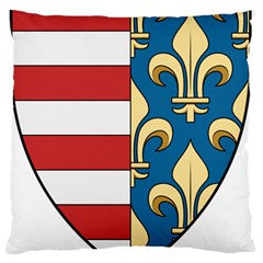 Angevins Dynasty Of Hungary Coat Of Arms Standard Flano Cushion Case (one Side) by abbeyz71
