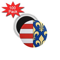 Angevins Dynasty Of Hungary Coat Of Arms 1 75  Magnets (100 Pack)  by abbeyz71