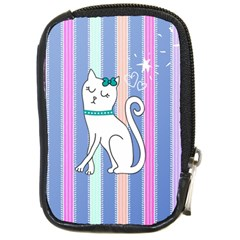Cute Cat Character Compact Camera Cases by TastefulDesigns