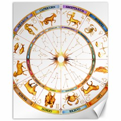 Zodiac Institute Of Vedic Astrology Canvas 11  X 14   by Onesevenart