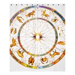 Zodiac Institute Of Vedic Astrology Shower Curtain 60  X 72  (medium)  by Onesevenart