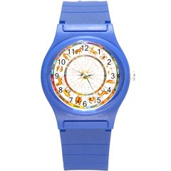 Zodiac Institute Of Vedic Astrology Round Plastic Sport Watch (s) by Onesevenart