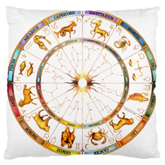 Zodiac Institute Of Vedic Astrology Large Flano Cushion Case (Two Sides)