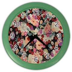 Japanese Ethnic Pattern Color Wall Clocks by Onesevenart
