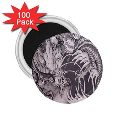Chinese Dragon Tattoo 2 25  Magnets (100 Pack)  by Onesevenart
