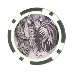 Chinese Dragon Tattoo Poker Chip Card Guard by Onesevenart