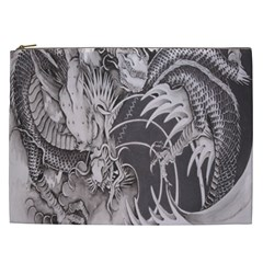 Chinese Dragon Tattoo Cosmetic Bag (xxl)  by Onesevenart