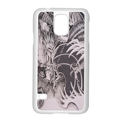 Chinese Dragon Tattoo Samsung Galaxy S5 Case (white) by Onesevenart