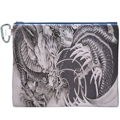 Chinese Dragon Tattoo Canvas Cosmetic Bag (xxxl) by Onesevenart