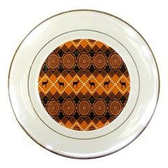 Traditiona  Patterns And African Patterns Porcelain Plates by Onesevenart