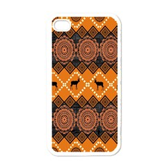 Traditiona  Patterns And African Patterns Apple Iphone 4 Case (white) by Onesevenart