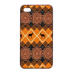 Traditiona  Patterns And African Patterns Apple Iphone 4/4s Seamless Case (black) by Onesevenart