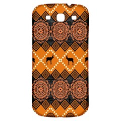 Traditiona  Patterns And African Patterns Samsung Galaxy S3 S Iii Classic Hardshell Back Case by Onesevenart