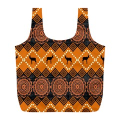 Traditiona  Patterns And African Patterns Full Print Recycle Bags (l)  by Onesevenart