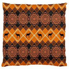 Traditiona  Patterns And African Patterns Large Flano Cushion Case (two Sides) by Onesevenart