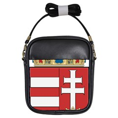 Medieval Coat Of Arms Of Hungary  Girls Sling Bags by abbeyz71