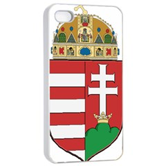 Medieval Coat Of Arms Of Hungary  Apple Iphone 4/4s Seamless Case (white) by abbeyz71