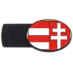 Medieval Coat Of Arms Of Hungary  Usb Flash Drive Oval (2 Gb) by abbeyz71