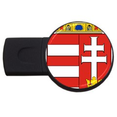 Medieval Coat Of Arms Of Hungary  Usb Flash Drive Round (4 Gb) by abbeyz71