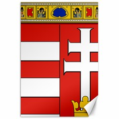 Medieval Coat Of Arms Of Hungary  Canvas 20  X 30   by abbeyz71