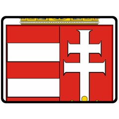 Medieval Coat Of Arms Of Hungary  Fleece Blanket (large)  by abbeyz71