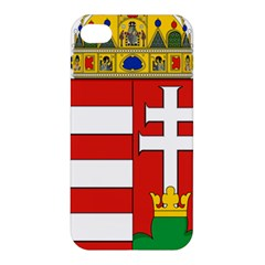 Medieval Coat Of Arms Of Hungary  Apple Iphone 4/4s Hardshell Case by abbeyz71