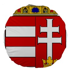 Medieval Coat Of Arms Of Hungary  Large 18  Premium Flano Round Cushions by abbeyz71