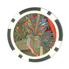 Traditional Korean Painted Paterns Poker Chip Card Guard by Onesevenart